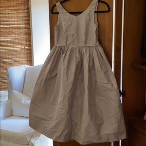 Crewcuts Collection Gray silk dress.